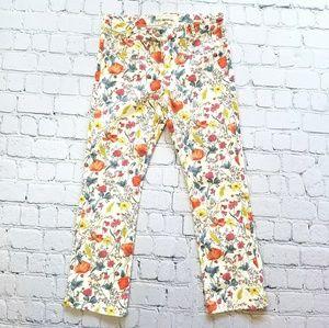 Zara Girls Floral Spring Summer Pants Sz 14
